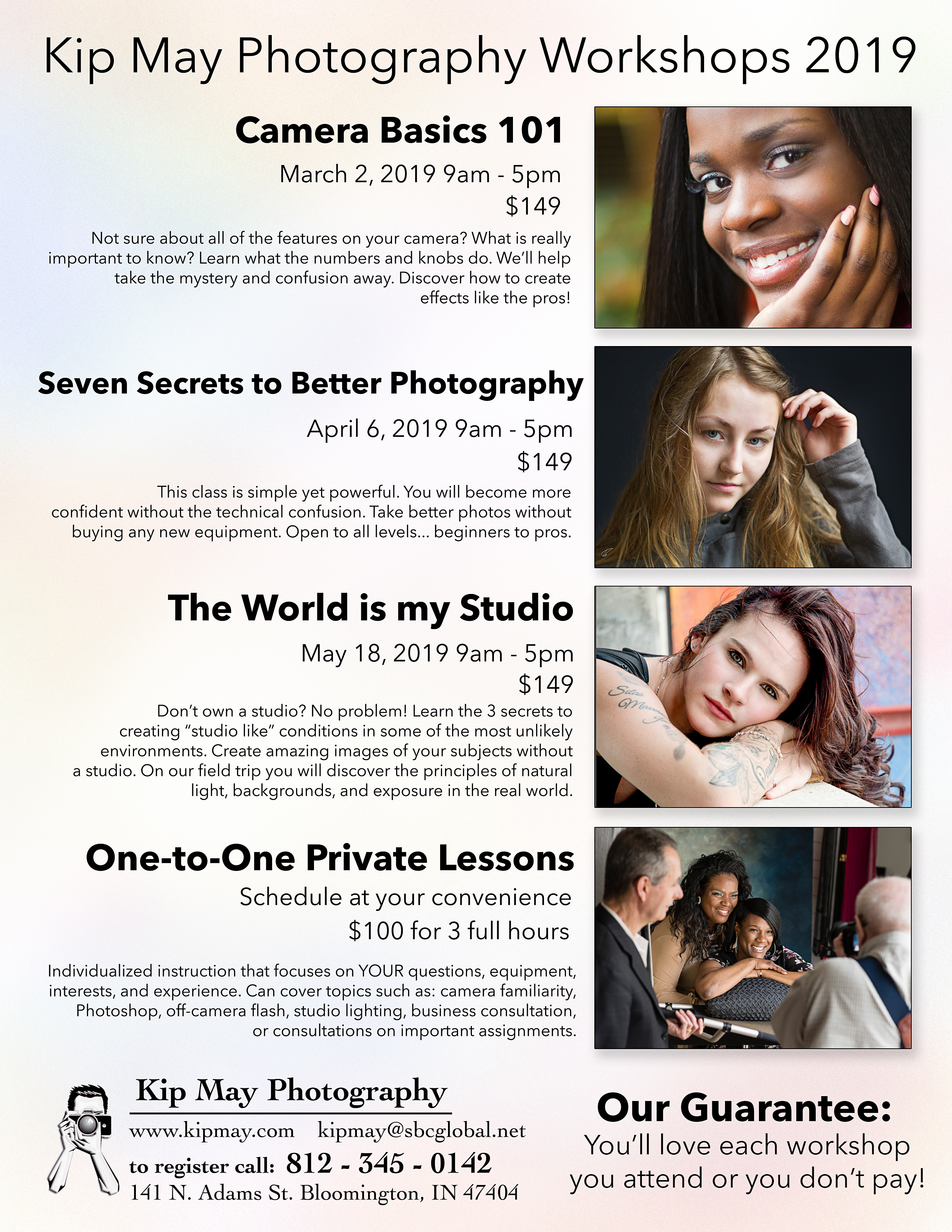 Photography Classes and Workshops | Kip May Photography Studio